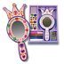 melissa doug wooden princess mirror