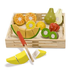 melissa doug deluxe wooden cutting fruit