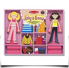 Abby And Emma Deluxe Magnetic Dressup