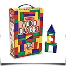 Melissa And Doug 100PIECE Wood Blocks