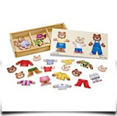 Melissa And Doug Wooden Bear Family Dressup